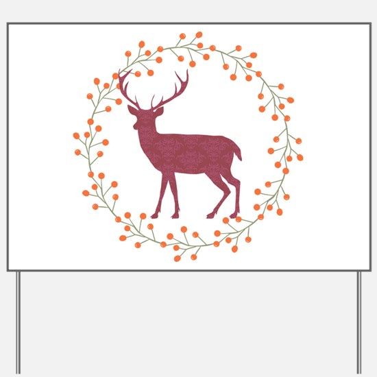 Red Stag Yard Sign