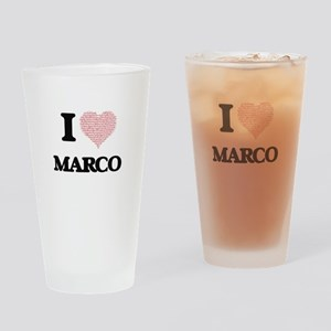 I Love Marco (Heart Made from Love Drinking Glass