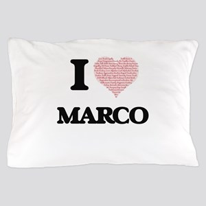 I Love Marco (Heart Made from Love wor Pillow Case