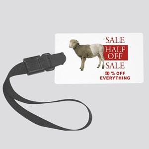 SHEEP HALF OFF SALE Large Luggage Tag