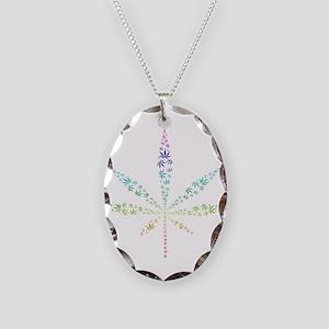 Cannabis Necklace Oval Charm