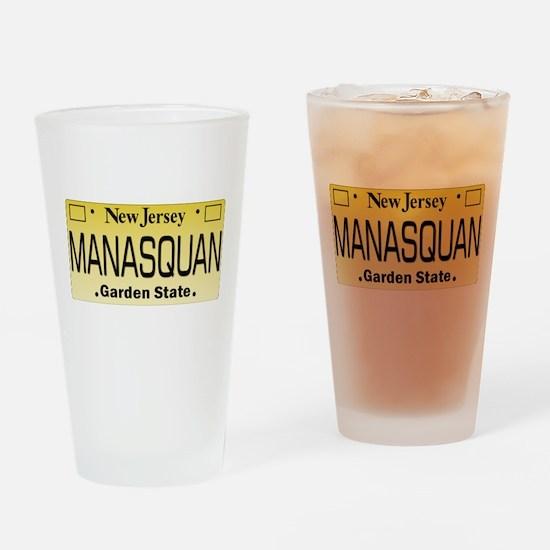 Manasquan, NJ Tag Gifts Drinking Glass