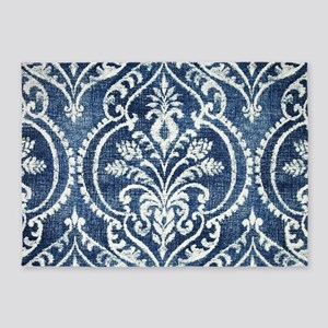 Baroque Denim 5'x7'Area Rug