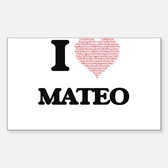 I Love Mateo (Heart Made from Love words) Decal