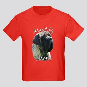 Mastiff(brindle)Mom2 Kids Dark T-Shirt