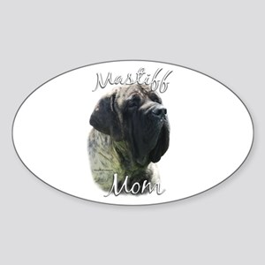 Mastiff(brindle)Mom2 Oval Sticker