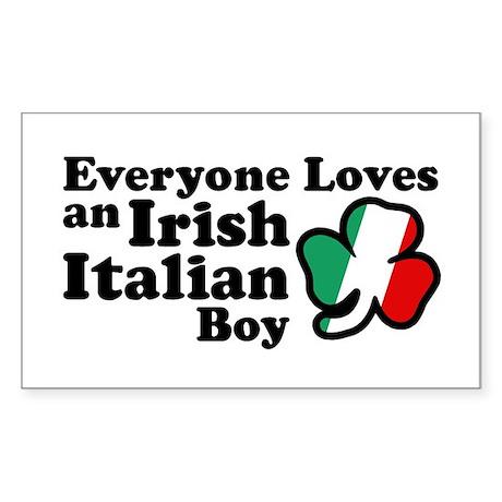 Everyone Loves an Irish Italian Boy Sticker (Recta
