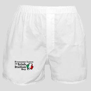 Everyone Loves an Irish Italian Boy Boxer Shorts