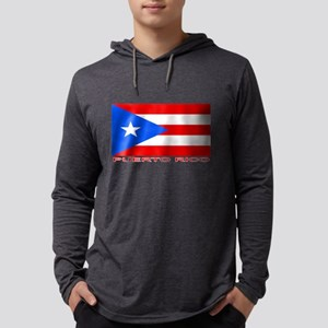 Puerto Rican Flag (labeled) Long Sleeve T-Shirt