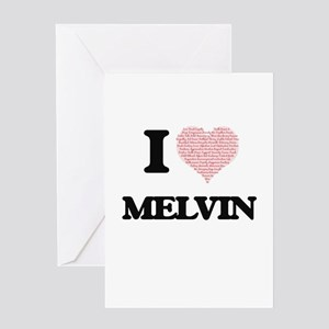 I Love Melvin (Heart Made from Love Greeting Cards