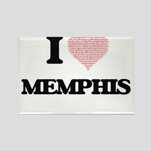 I Love Memphis (Heart Made from Love words Magnets