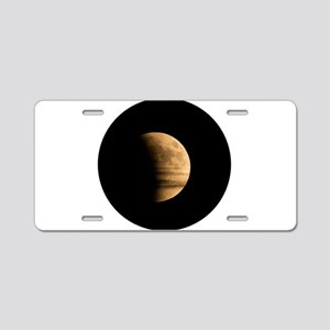 Eclipse with Clouds Aluminum License Plate