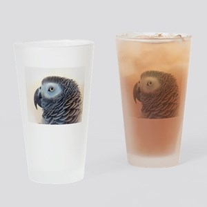 African Grey Parrot Drinking Glass
