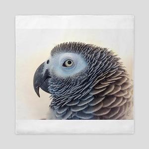 African Grey Parrot Queen Duvet
