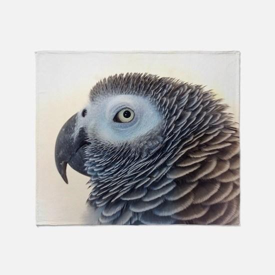 African Grey Parrot Throw Blanket