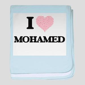 I Love Mohamed (Heart Made from Love baby blanket