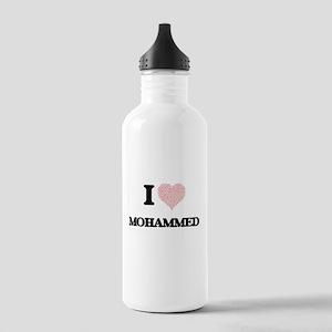 I Love Mohammed (Heart Stainless Water Bottle 1.0L