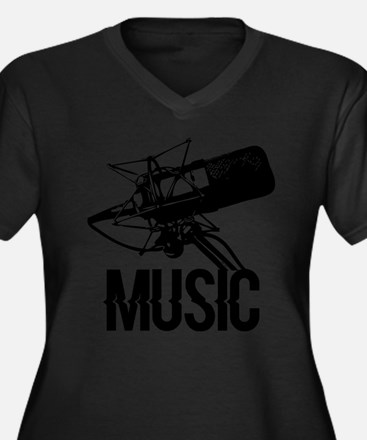Music,microphone Plus Size T-Shirt