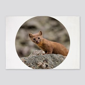 Long-tailed Weasel 5'x7'Area Rug