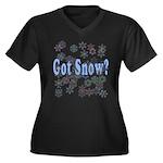 Got Snow? Women's Plus Size V-Neck Dark T-Shirt