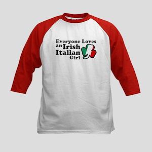 Everyone Loves an Irish Italian Girl Kids Baseball