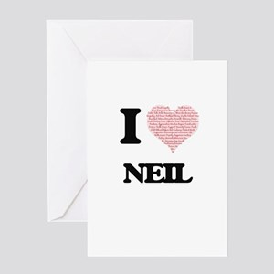 I Love Neil (Heart Made from Love w Greeting Cards