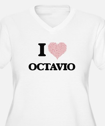 I Love Octavio (Heart Made from Plus Size T-Shirt