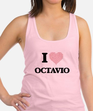 I Love Octavio (Heart Made from Racerback Tank Top