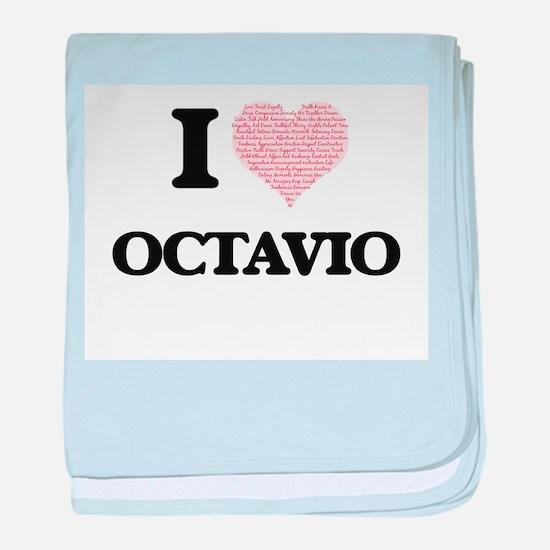 I Love Octavio (Heart Made from Love baby blanket