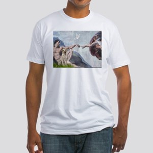 Creation & Yellow Labrador Fitted T-Shirt