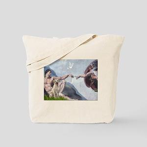 Creation & Yellow Labrador Tote Bag