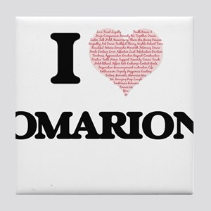 I Love Omarion (Heart Made from Love Tile Coaster