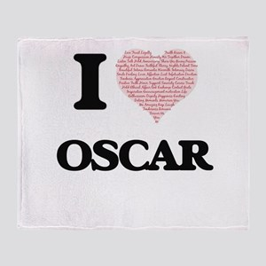 I Love Oscar (Heart Made from Love w Throw Blanket