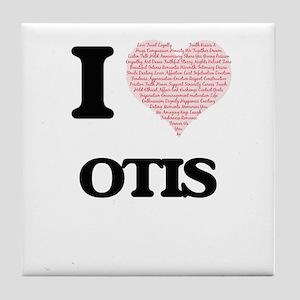 I Love Otis (Heart Made from Love wor Tile Coaster