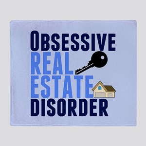 Funny Real Estate Throw Blanket