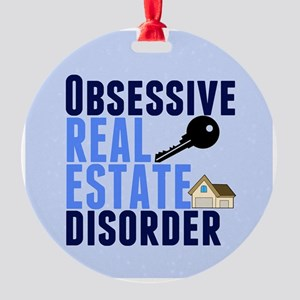 Funny Real Estate Round Ornament