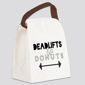 Deadlifts & Donuts Canvas Lunch Bag