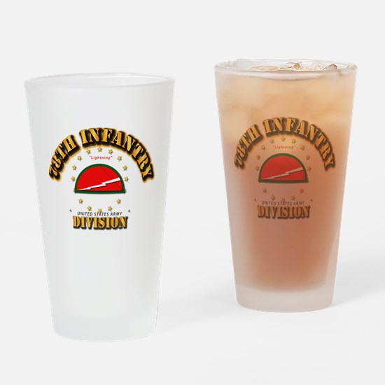78th Infantry Division Drinking Glass