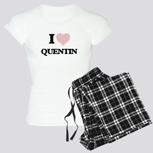 I Love Quentin (Heart Made Women's Light Pajamas