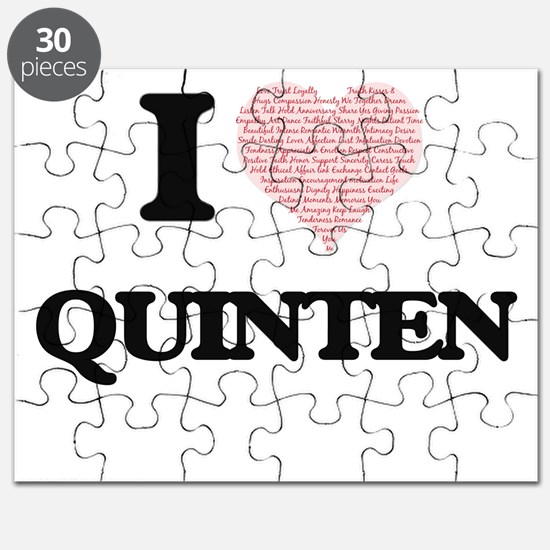 I Love Quinten (Heart Made from Love words) Puzzle