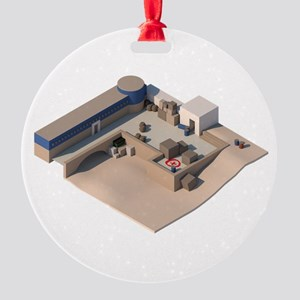 CS:GO de_dust2 A Site Round Ornament