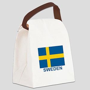 sweden-flag-lebeled Canvas Lunch Bag