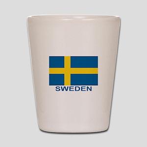 sweden-flag-lebeled Shot Glass