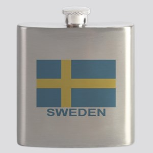 sweden-flag-lebeled Flask