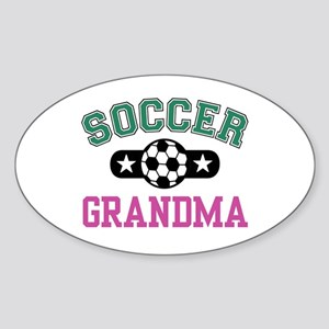 Soccer Grandma Oval Sticker