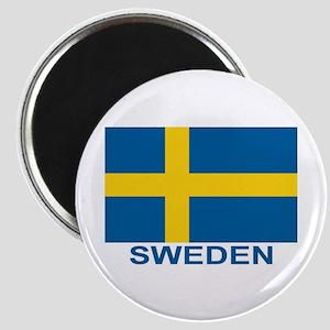 Swedish Flag (w/title) Magnets