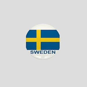 sweden-flag-lebeled Mini Button