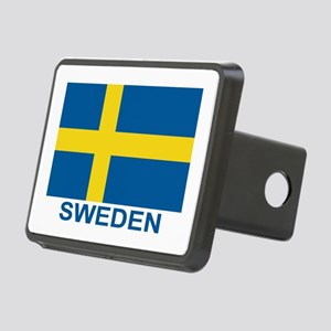 sweden-flag-lebeled Rectangular Hitch Cover