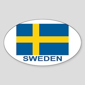 Swedish Flag (w/title) Sticker