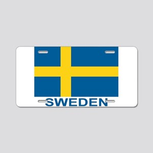 sweden-flag-lebeled Aluminum License Plate